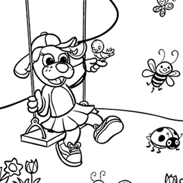 Springtime Coloring Pages for Kids Preschoolers RAGGS
