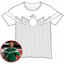 Mexico Soccer Shirt Coloring Activity RAGGS