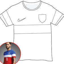 world cup t shirt coloring page